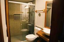 Banheiro reversível.
