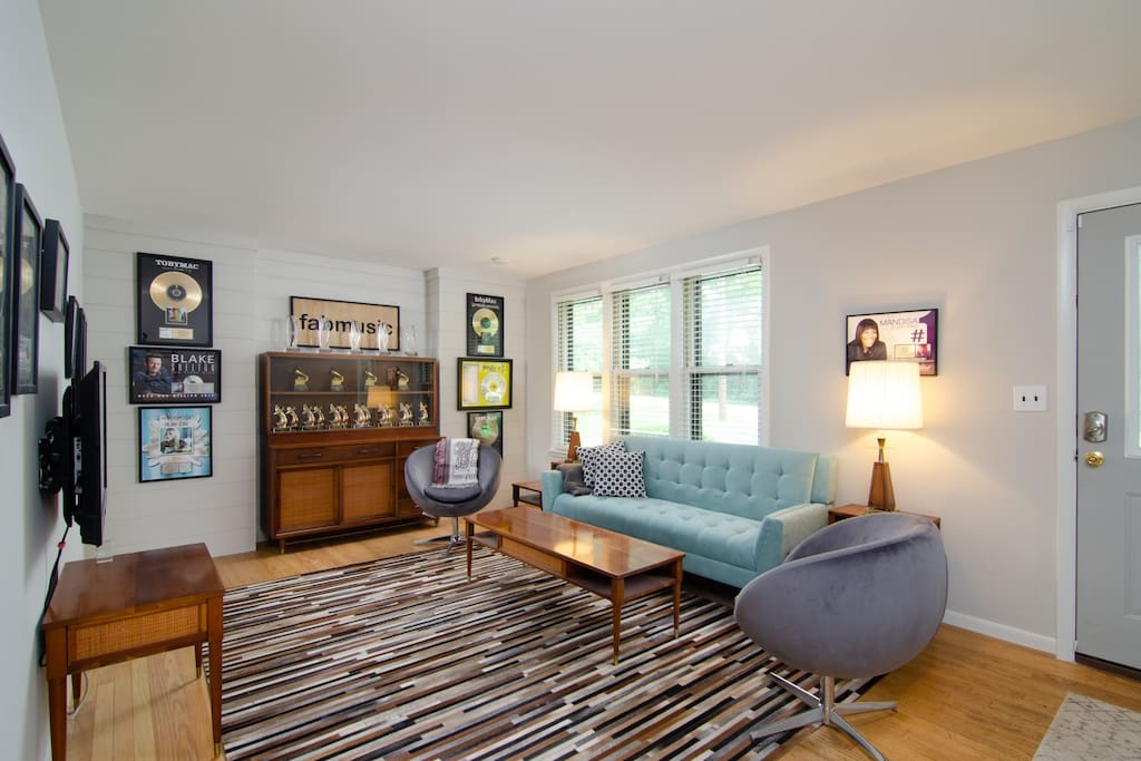 Enjoy your time in Nashville in the home of a Grammy award-winning producer/songwriter, with his awards on full display!