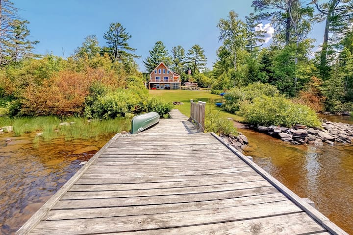Waterfront home w/ a private hot tub, canoe, & kayaks - 100 ft. from the water!