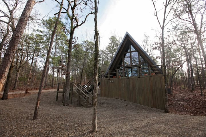 ARROW HOUSE is a modern luxury A-Frame perfect for up to 4 Guest!