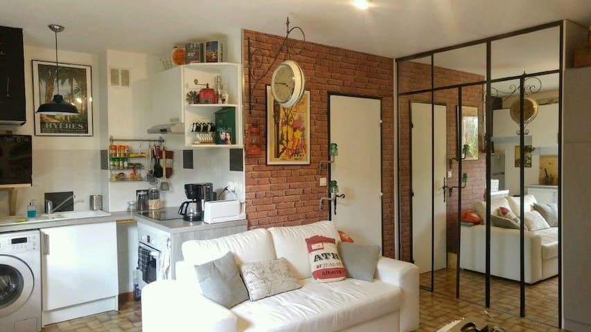 Joli Studio proche centre et plages - Hyères - Apartemen