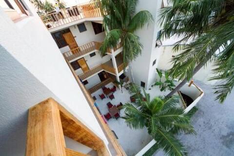 Modern Gulhi hotel, incl. breakfast + snorkeling