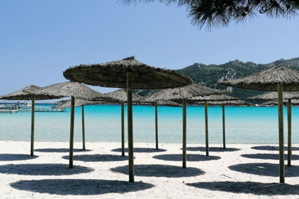 La plage de Santa Giulia
