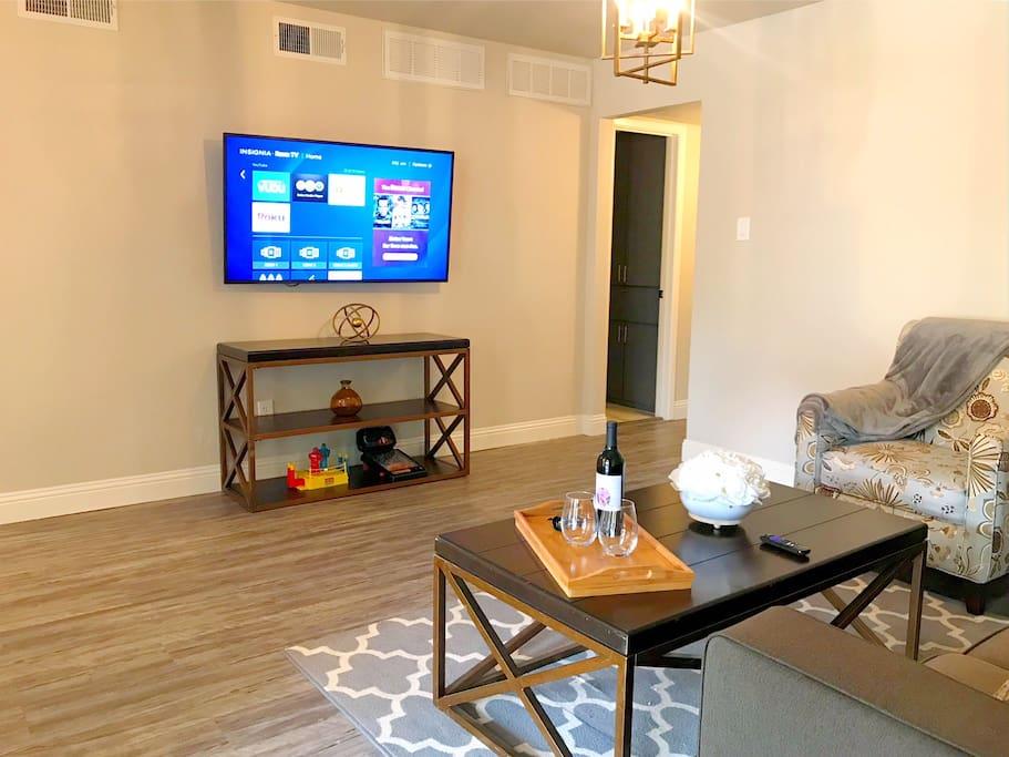 55 inch TV in living room