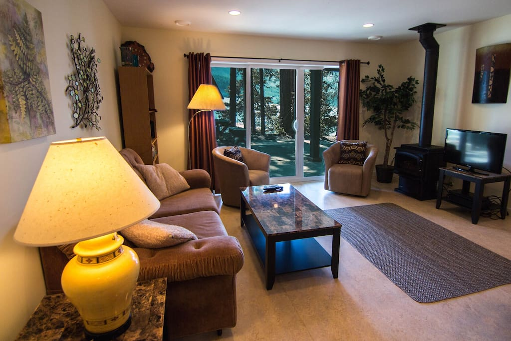 Living Room Overlooking Sproat Lake