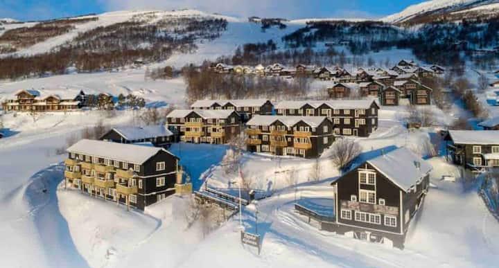 Leilighet ski in/skiout Oppdal alpintun