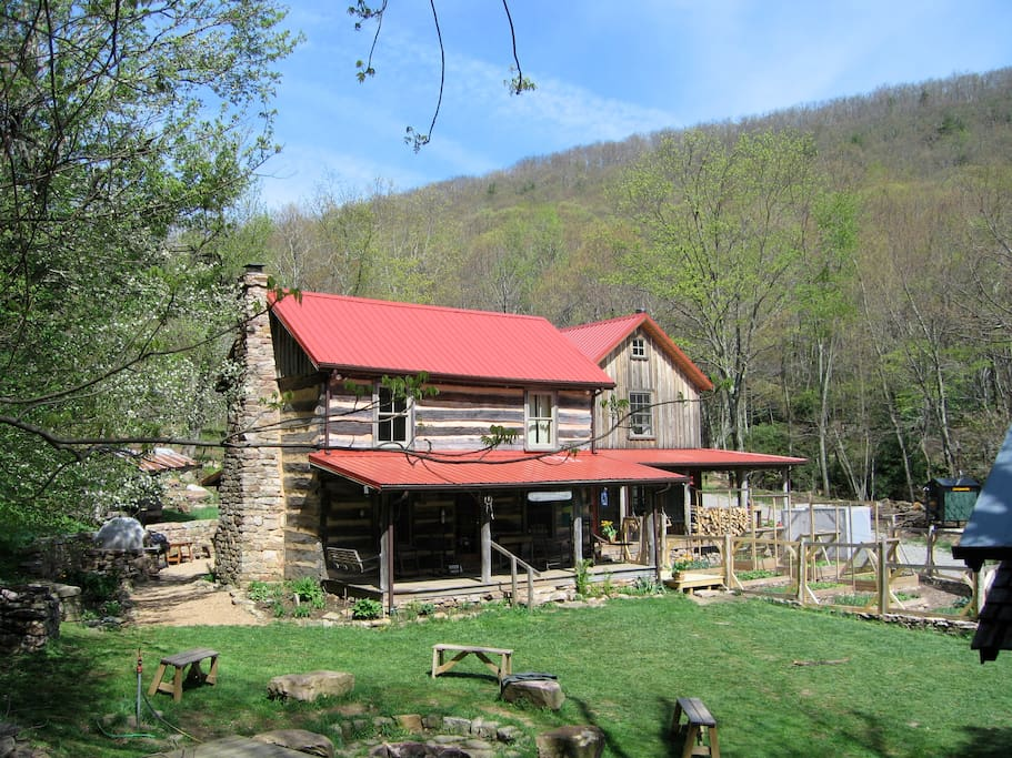 A view of the Main Cabin, located 1/2 mile from the Appalachian Trail