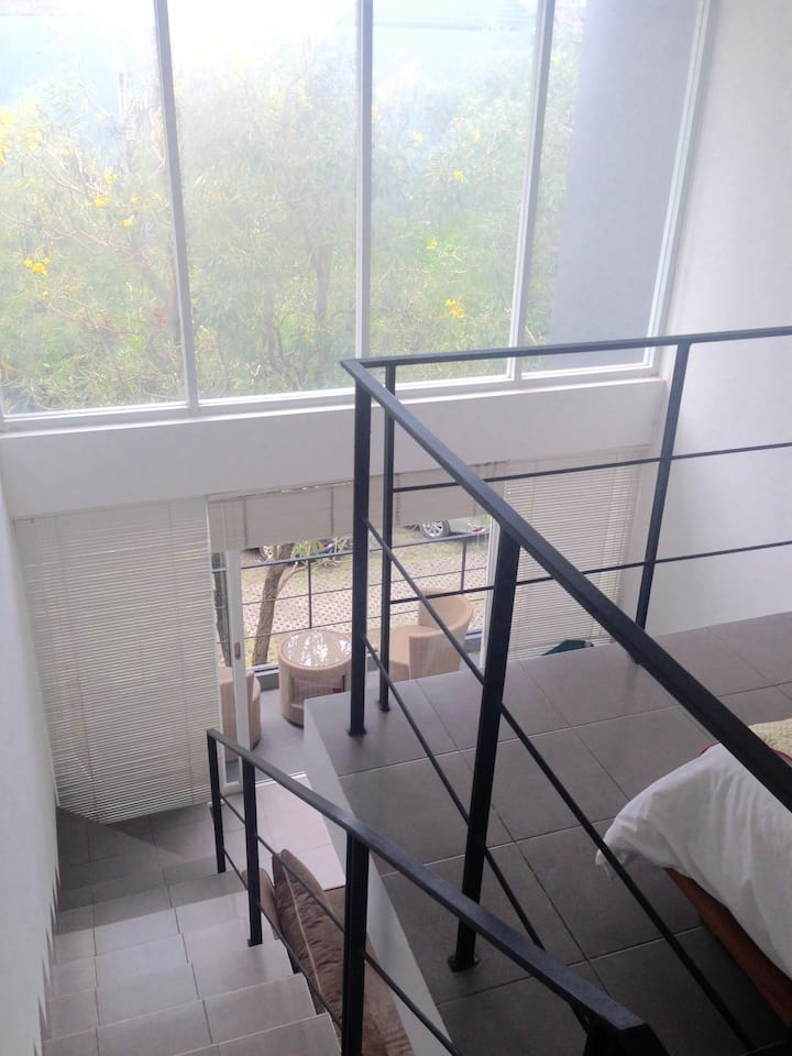 6 m high glass loft, architectured designer loft