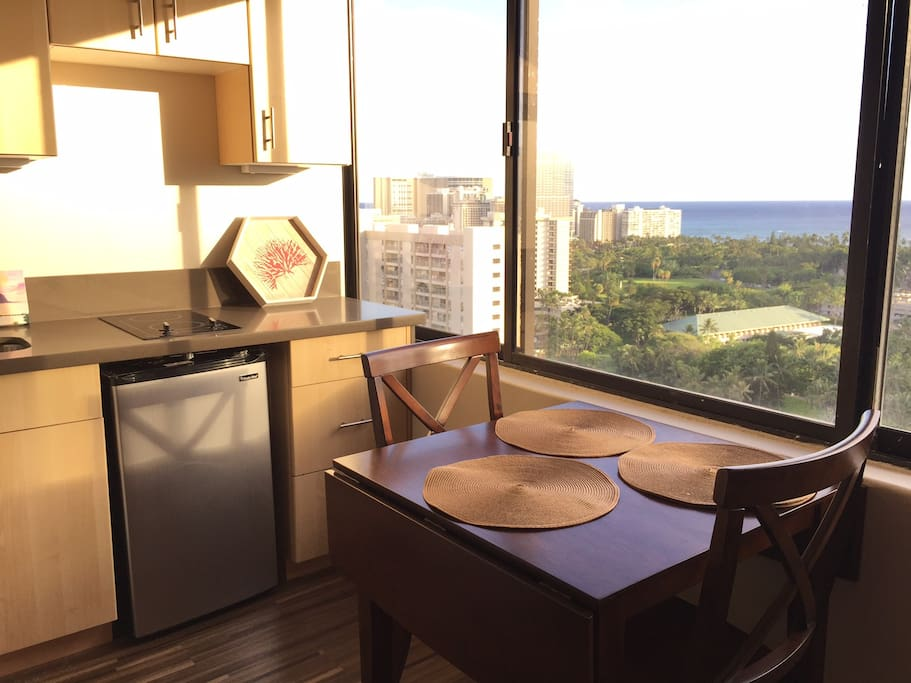 Dinette set with the view!