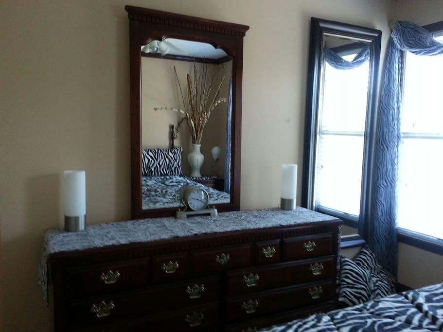 Matching Dresser, Full Length Mirror, Custom Wood Blinds