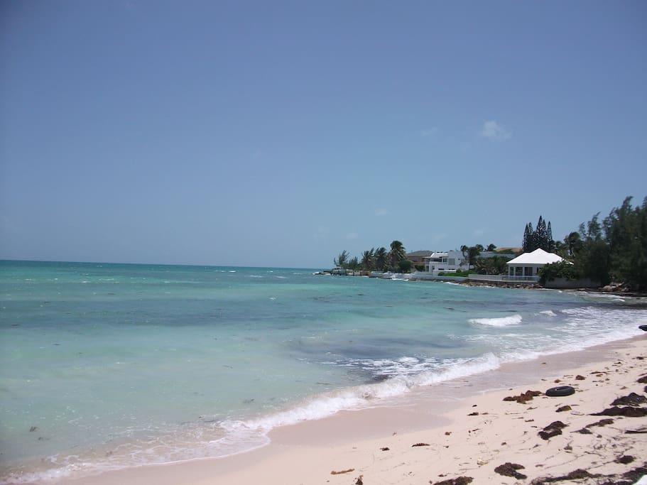 Yamacraw Beach two minutes walk away