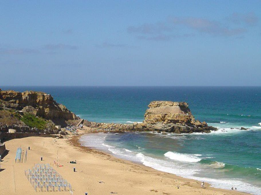 Porto Novo beach, just 3min by car, or 15min by bicycle.