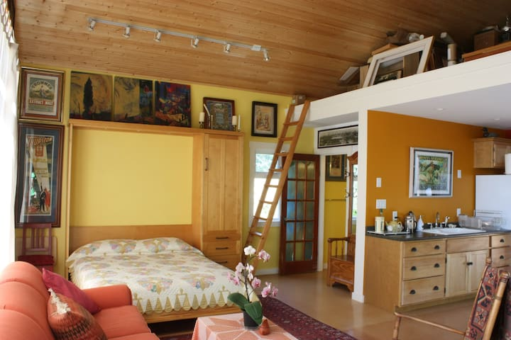 The Cottage with the Murphy Bed down.
