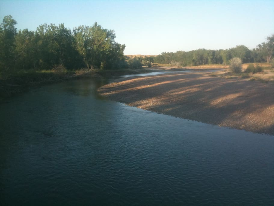 River 1 of 3:  Teton River 50 yds from cabin and on property.