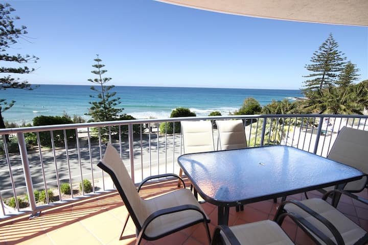 COOLUM BEACH -absolute beachfront popular unit