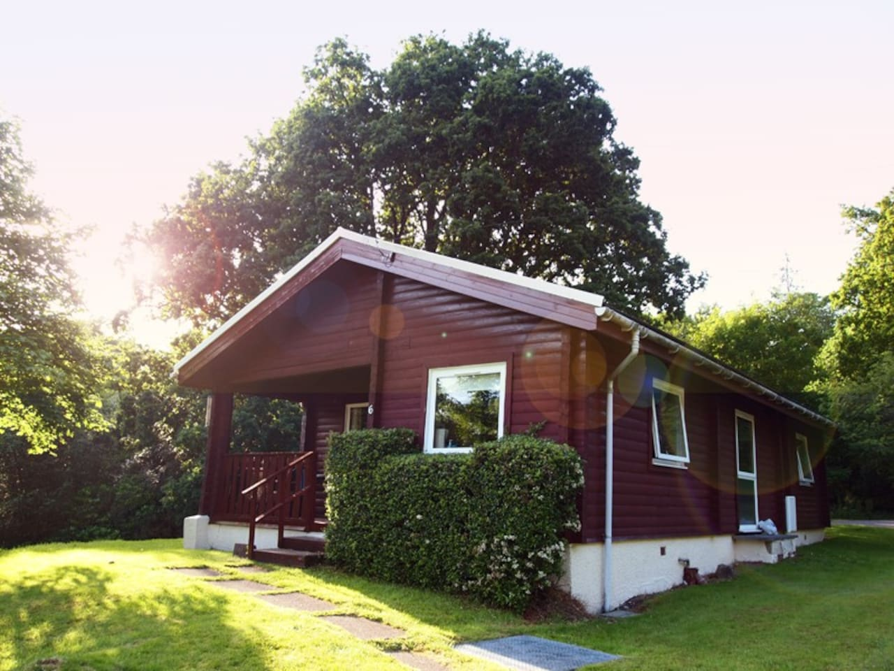 Come and stay in your very own cosy log cabin!