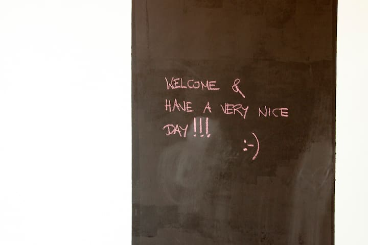 Blackboard in the smaller room where your creativity may flourish