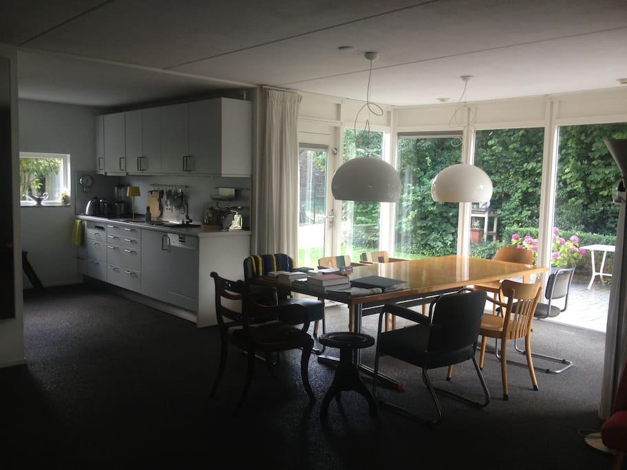 modern open huis met veel privacy