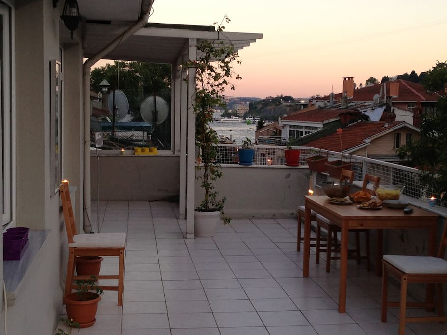 This is the terrace..