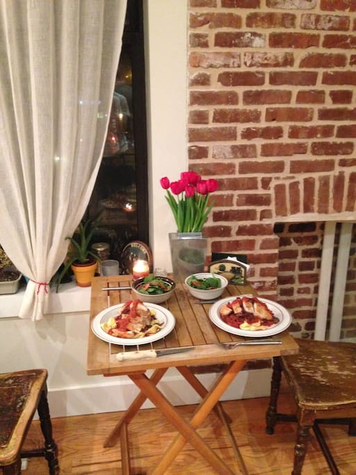 Have a romantic meal at home.