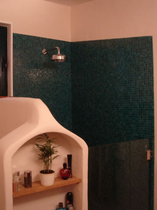Bathroom 1 with rain shower