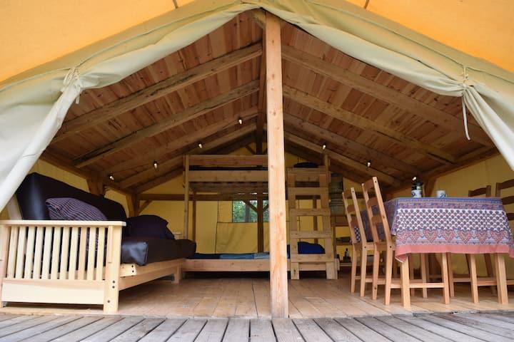 Water View Tent-Cabin @ Wild Woods Hideaway