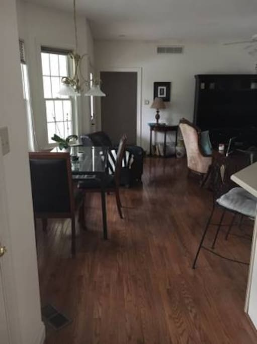 The Family Room/Dining Area