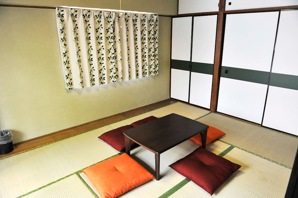 Second bedroom is a traditional Japanese tatami room that can sleep up to 4 people