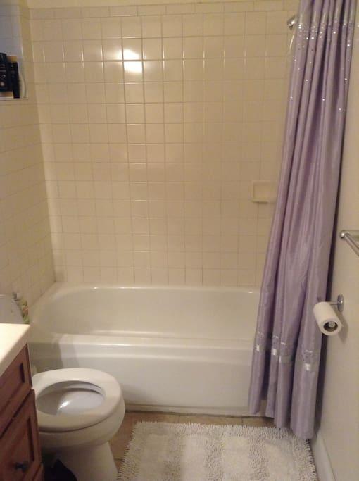 Shower Power! Lavender soap provided.