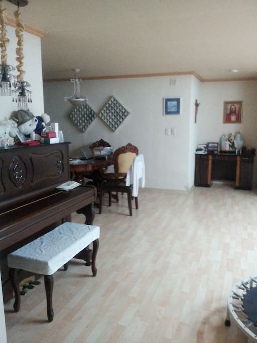 Piano on living room