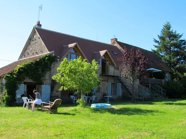 Beautiful house in Burgundy - Chiddes - Hus