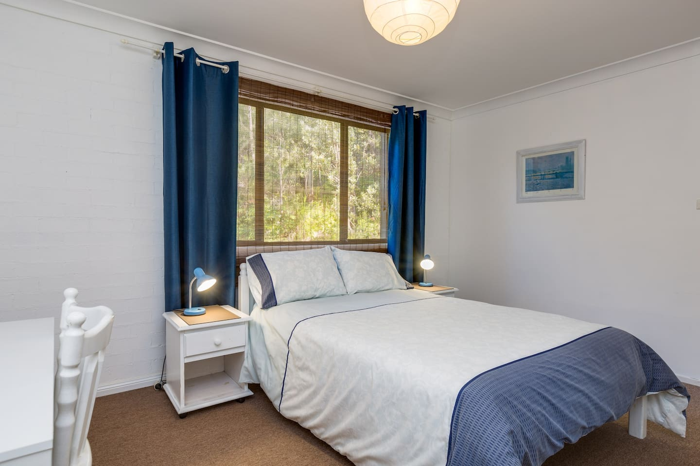 Bedroom 2 Double Bed For singles/couples the double bedroom is closed off for a more intimate and comfy feel.