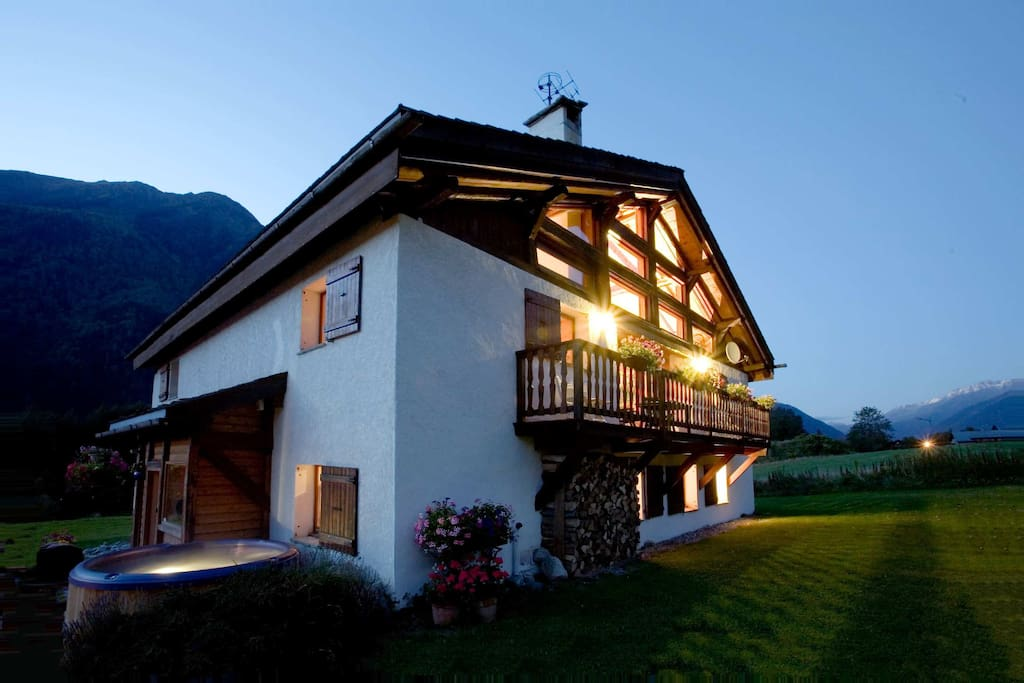 Exterior of the chalet in summer