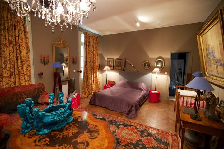 Chambre dans maison de maître bord de Dordogne - Prigonrieux - Dům pro hosty