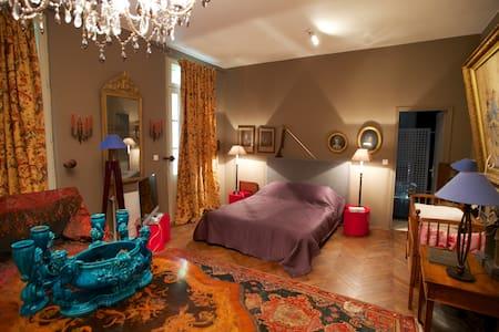 Chambre dans maison de maître bord de Dordogne - Prigonrieux