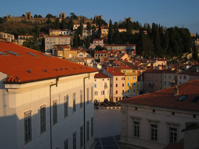 House With Terrace: Heart of Piran, by the Sea