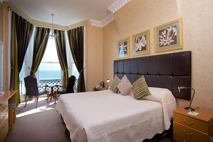 Superior Sea View Double Room at the Premier AA Four Star Langham Hotel Eastbourne