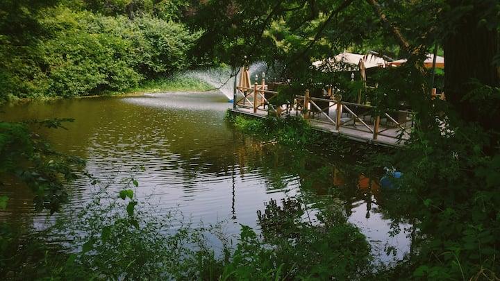 八大关安晓民宿,别墅整栋独享市区20亩园林,婚礼、生日宴、团建等私密空间最佳选择。