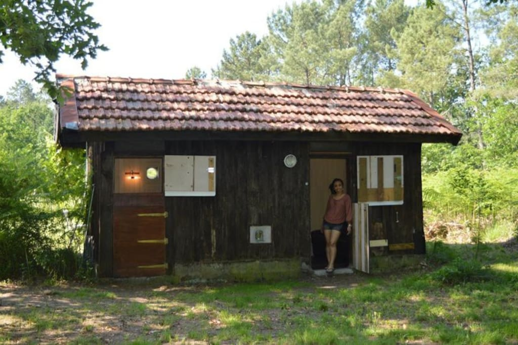 cabane en for t forest cabin farm stays for rent in onesse laharie aquitaine limousin. Black Bedroom Furniture Sets. Home Design Ideas