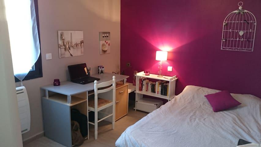 Chambre romantique avec espace de travail - Bouloc - Dom