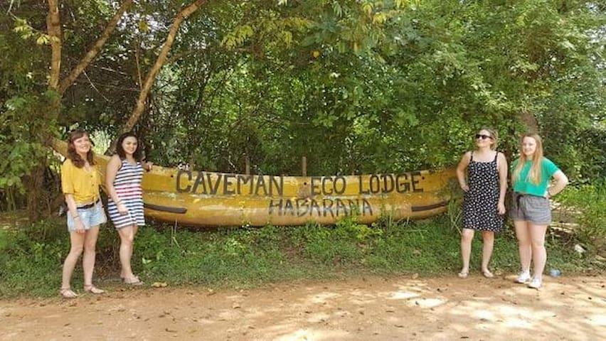 Caveman eco tree House entrance  habarana