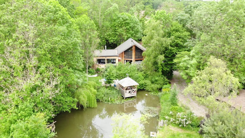 Chambre d' hôte avec sauna / maison bio climatique