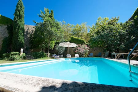 Pool and garden traditional house - Aigues-Vives - Huis