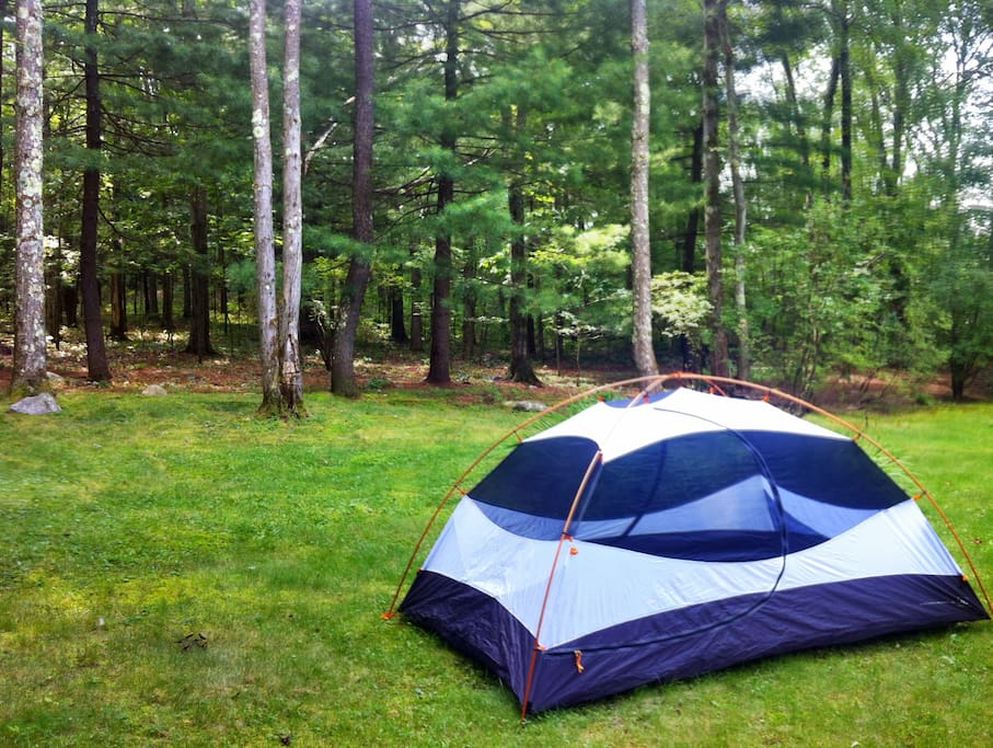 Available two person tent, with rain fly