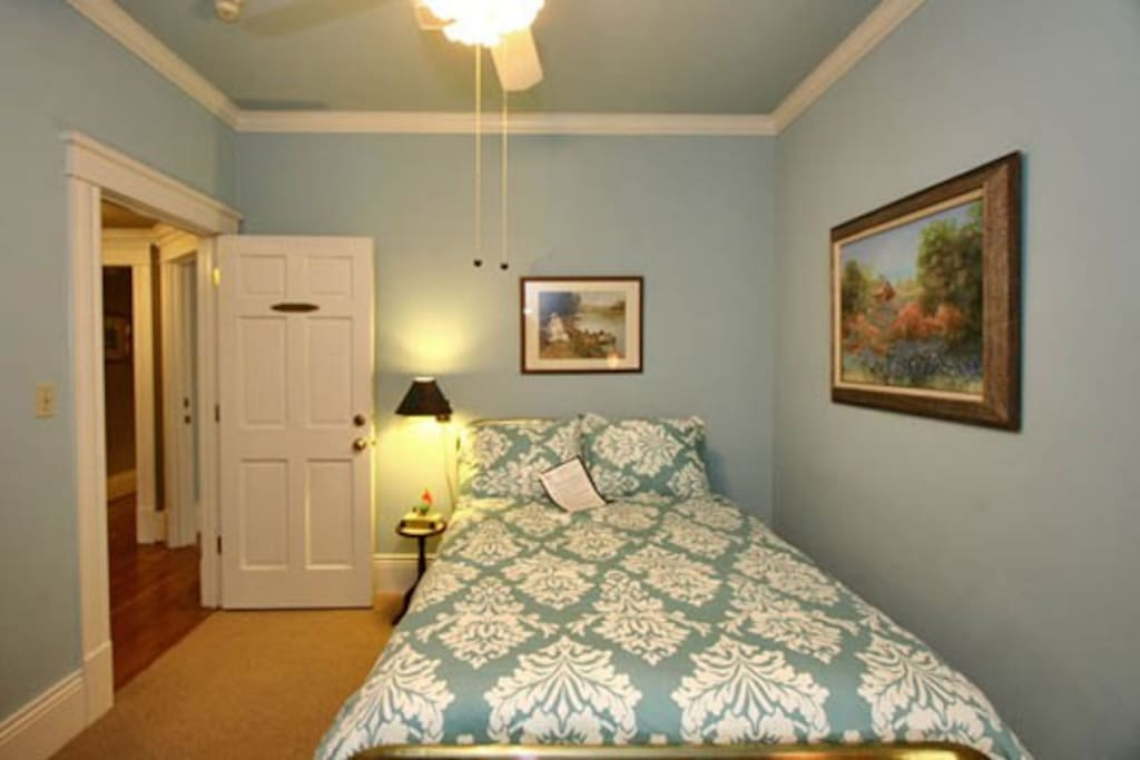 Enjoy this cozy room with a private bathroom.