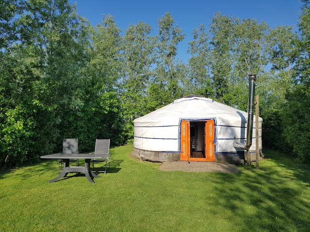 Luxe kamperen in een geweldige Yurt