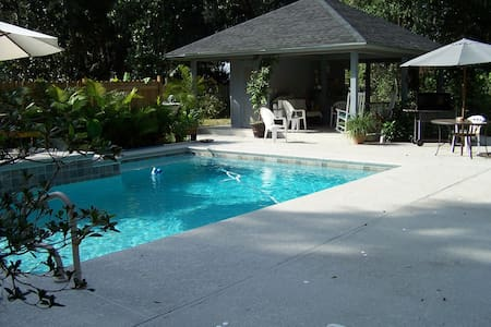 Nature Lovers Sanctuary pool & dock - Jacksonville - Huis