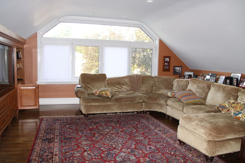 The family room, or den, or TV room, or whatever you want to call it! It's comfy and cozy and you'll love it!
