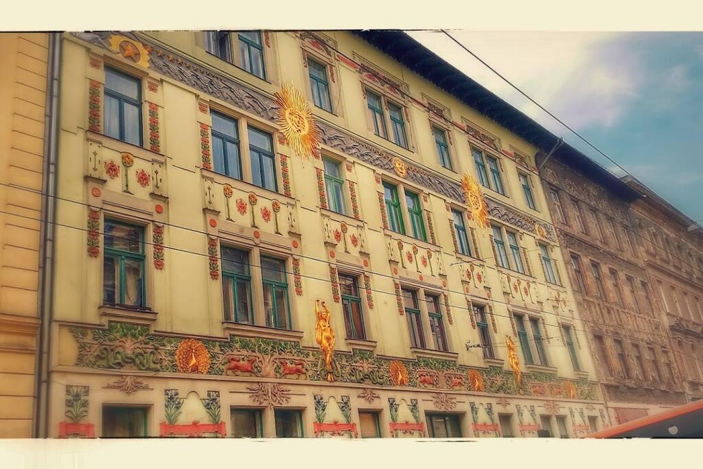 facade of the building