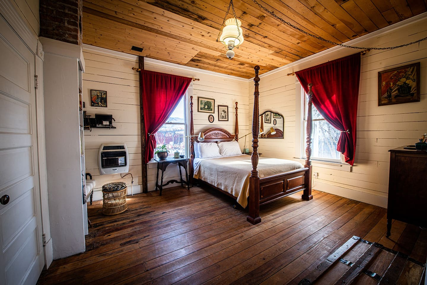 The Blithedale Suite includes two Queen bedrooms separated by a door and private attached bathroom.